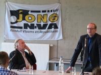 Moderator Wilfried Haesen en Ben Weyts