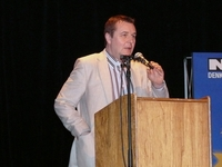 Moderator Mark Demesmaeker