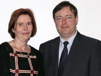 N-VA Ternat voorzitter Nele Vandenbulcke met Bart De Wever